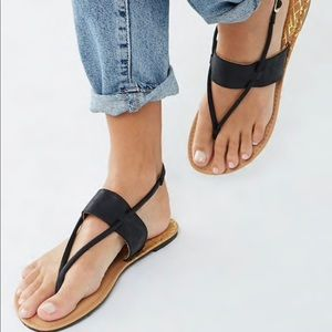 Qupid Faux Leather Thong Sandals from Forever 21